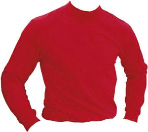Baseball 100% Cotton Long Sleeve Mock Turtleneck
