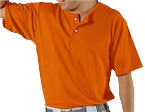 2-Button Placket Baseball Jersey Full Athletic Cut