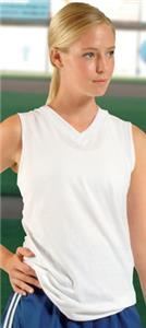 Womens Racerback Sleeveless V-Neck Jersey