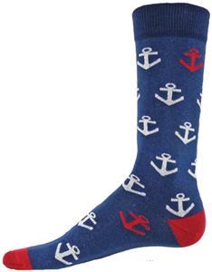Wright Avenue Anchors Novelty Cotton Crew Socks