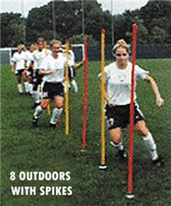 Outdoor or Indoor Soccer Agility Poles (set of 8)