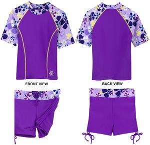 Tuga Swimwear Retro Swirl Surfer Girl 2pc Swim Set