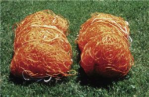 Stackhouse Polyethylene Orange Soccer Nets Pair