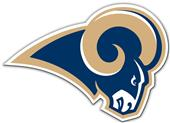 "NFL Los Angeles Rams 12"" Die Cut Vinyl Car Magnet"