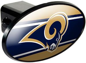 NFL Los Angeles Rams Oval Trailer Hitch Cover