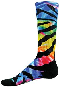 Red Lion Siberian Tie Dyed Sublimated Crew Socks