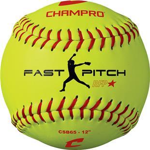 Champro Yellow Recreational Fast Pitch Softballs