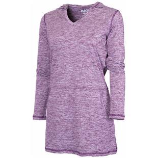 Baw Ladies/Girls Shirt Dress V-Neck With Hood
