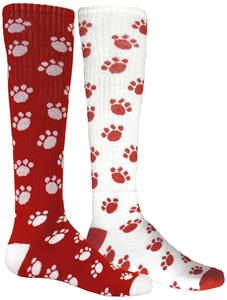 Red Lion Mismatched MX Paws Socks