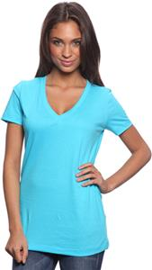 Royal Apparel Womens 50/50 Blend V-Neck