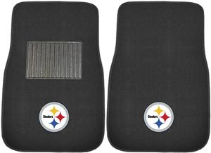 Fan Mats NFL Steelers Embroidered Car Mats (set)