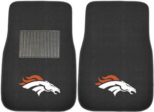 Fan Mats NFL Broncos Embroidered Car Mats (set)
