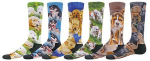 Red Lion So Cute Puppy Sublimated Crew Socks
