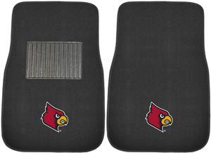 Fan Mats NCAA Louisville Embroidered Car Mats(set)