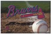 Fan Mats MLB Braves Scraper Ball or Camo Mat
