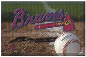 Fan Mats MLB Braves Scraper Ball or Camo Mats