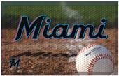 Fan Mats MLB Marlins Scraper Ball or Camo Mats
