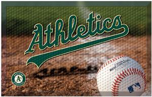Fan Mats MLB Athletics Scraper Ball or Camo Mats