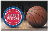 Fan Mats NBA Pistons Scraper Ball Mat