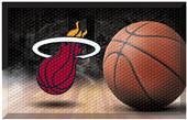 Fan Mats NBA Heat Scraper Ball Mat