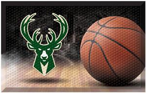 Fan Mats NBA Bucks Scraper Ball Mat