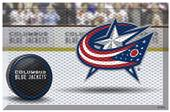 Fan Mats NHL Blue Jackets Scraper Puck or Camo Mat