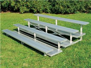 3 row &amp; 4 Row (Low Rise) Aluminum Bleachers