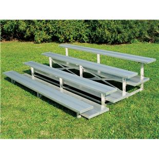 NRS 3 Row & 4 Row Aluminum Bleachers (Low Rise)