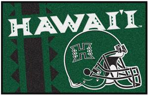 Fan Mats NCAA University of Hawaii Starter Mat