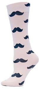 Nouvella Black Mustache Sublimated Trouser Socks