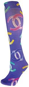 Nouvella Lilac Horseshoe Hippy Fun Collection Sock