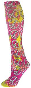 Nouvella Peace Sign Hippy Collection Trouser Sock