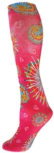Nouvella Pink TD Hearts Hippy Fun Collection Sock