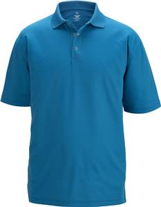 Edwards Mens Snap Front Short Sleeve Polo