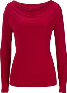 Edwards Womens Long Sleeve Cowl-Neck Top