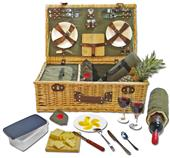 Picnic Pack Willow Picnic Basket for 4 People