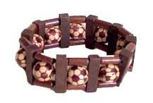 Rixstine Wooden Soccer Bracelet
