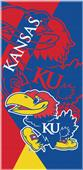 Northwest NCAA Kansas Puzzle Beach Towel