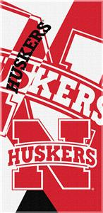 Northwest NCAA Nebraska Puzzle Beach Towel