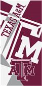 Northwest NCAA Texas A&M Puzzle Beach Towel