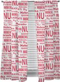 Northwest NCAA Nebraska Anthem Window Panels Pair