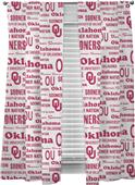 Northwest NCAA Oklahoma Anthem Window Panels Pair