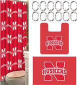 Northwest NCAA Nebraska 15-Piece Bath Set