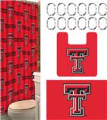 Northwest NCAA Texas Tech 15-Piece Bath Set