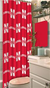Northwest NCAA Nebraska Shower Curtain