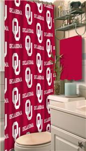 Northwest NCAA Oklahoma Shower Curtain