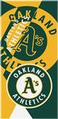 Northwest MLB Athletics Puzzle Beach Towel