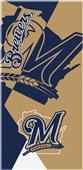 Northwest MLB Brewers Puzzle Beach Towel