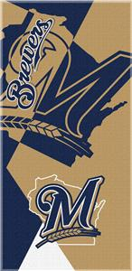 Northwest MLB Brewers Puzzle Beach Towel