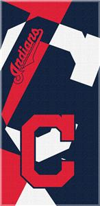 Northwest MLB Indians Puzzle Beach Towel